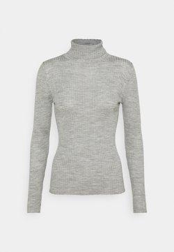Selected Femme Tall - SLFCOSTINA ROLLNECK - Strikpullover /Striktrøjer - light grey melange