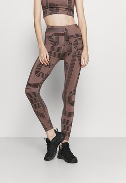 ONLY Play - ONPJOYA TRAIN  - Tights - deep taupe/black