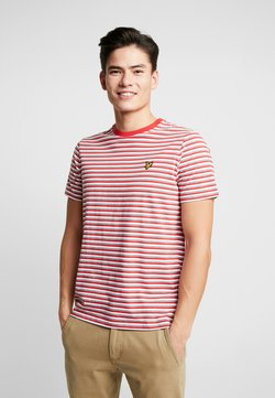 Lyle & Scott - STRIPE - Print T-shirt - red
