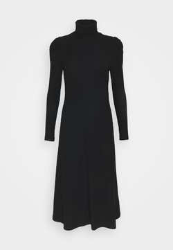 ONLY - ONLNELLA ROLL NECK DRESS  - Vestido de punto - black