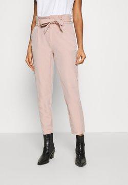 ONLY - ONLLONZO PAPERBAG BELT PANT - Pantalon classique - misty rose