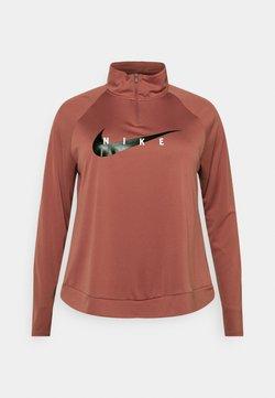 Nike Performance - RUN MIDLAYER PLUS - Tekninen urheilupaita - canyon rust/black