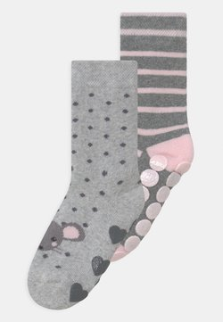 Ewers - MOUSE 2 PACK UNISEX - Calcetines - grey/light pink