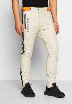 Diesel - TROUSERS - Pantalon en cuir - cream