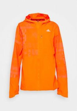 adidas Performance - OWN THE RUN WIND RESPONSE RUNNING JACKET - Hardloopjack - app signal orange/reflective silver