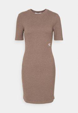 Calvin Klein Jeans - SLUB DRESS - Vestido de tubo - dusty brown