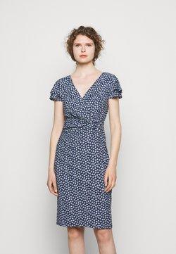 Lauren Ralph Lauren - PRINTED MATTE DRESS - Jerseykleid - navy/col cream