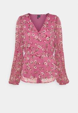 Vero Moda Tall - VMKAY V NECK - Bluse - hawthorn rose
