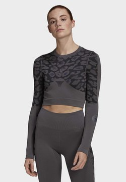 adidas by Stella McCartney - ADIDAS BY STELLA MCCARTNEY TRUEPURPOSE SEAMLESS CROP  - Pitkähihainen paita - grey