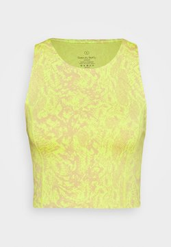 Sweaty Betty - FLATTER ME WORKOUT CROPPED VEST - Toppi - neon yellow/light brown