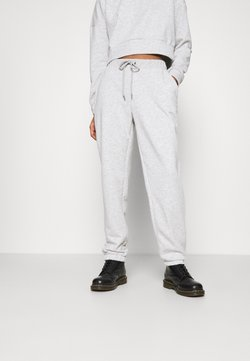 Noisy May - NMLUPA LOGO PANTS - Jogginghose - light grey melange