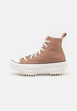 Converse - RUN STAR HIKE UNISEX - Sneaker high - rose taupe/white/egret