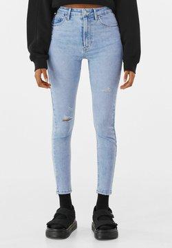 Bershka - SUPER HIGH WAIST - Jeans Skinny - blue denim
