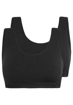 Skiny - DAMEN BUSTIER 2ER PACK - Bustino - black
