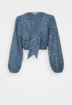 American Eagle - TIE FRONT - Langarmshirt - blue
