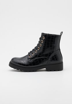 New Look - BOATING  LACE UP - Veterboots - black