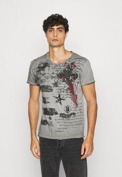 Key Largo - INDICATE ROUND - T-shirt print - anthracite