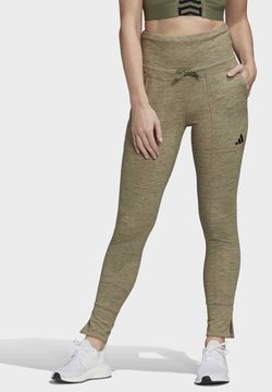 adidas Performance - HIGH-WAISTED SLIM - Tights - green