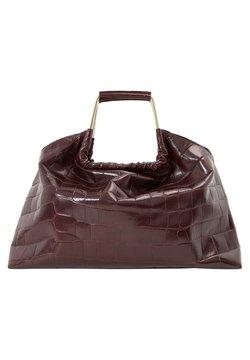 Uterqüe - MIT KROKOPRÄGUNG UND GRIFFEN - Handtasche - brown