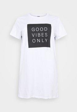 Noisy May Curve - NMZODIAC SLOGAN - T-Shirt print - bright white