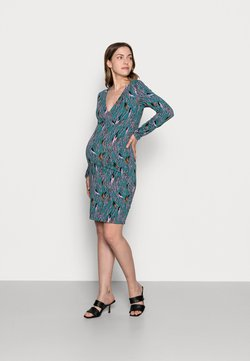 MAMALICIOUS - NURSING DRESS - Sukienka z dżerseju - mallard blue