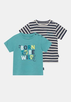 Staccato - BABY 2 PACK - T-shirt con stampa - light blue/dark blue