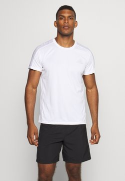adidas Performance - RESPONSE RUNNING SHORT SLEEVE TEE - Camiseta estampada - white