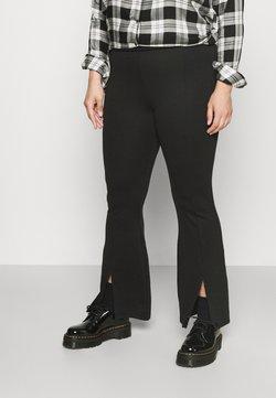 ONLY Carmakoma - CARPEVER FLARED SLIT PANTS - Bukse - black