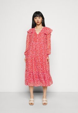 Pieces Petite - PCRIO DRESS - Korte jurk - red clay/orchid bloom