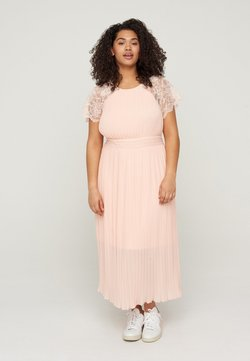 Zizzi - WITH LACE AND SMOCK DETAIL - Cocktailkleid/festliches Kleid - rose smoke
