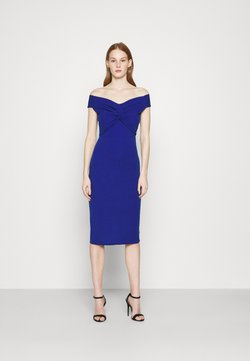 WAL G. - JORDYN OFF THE SHOULDER MIDI DRESS - Vestido de cóctel - electric blue