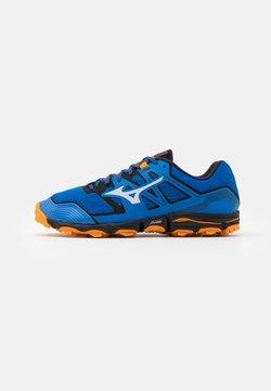 Mizuno - WAVE HAYATE 6 - Zapatillas de trail running - blue/lunar rock/orange