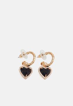 sweet deluxe - HEART - Earrings - gold-coloured/schwarz