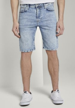 TOM TAILOR DENIM - Jeans Shorts - used bleached blue denim