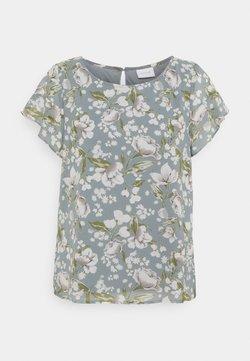 Vila - VIMILINA FLOWER - T-Shirt print - ashley blue