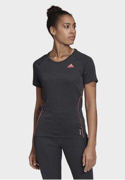 adidas Performance - ADI RUNNER TEE - T-Shirt print - Black