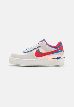 Nike Sportswear - AIR FORCE 1 SHADOW - Sneaker low - sail/university red/photo blue/royal blue/crimson tint/sail