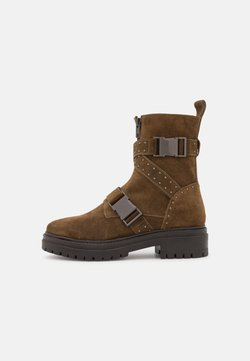 Copenhagen Shoes - DEMI - Platåstövletter - army