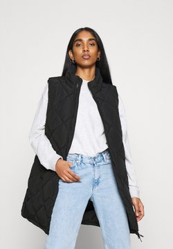 Noisy May - NMFALCON LONG VEST - Smanicato - black
