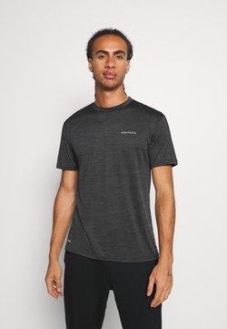 Endurance - BATANGAS  MELANGE TEE - Camiseta básica - black