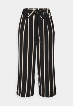 ONLY - ONLWINNER PALAZZO CULOTTE PANT - Stoffhose - black/camel