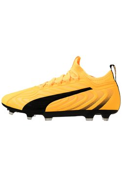 Puma - ONE 20.3 FG/AG - Moulded stud football boots - ultra yellow/black/orange alert