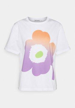 Marimekko - KAPINA UNIKKO  - T-Shirt print - off white/green/violet