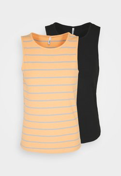 ONLY Tall - ONLNUVELLA LIFE 2 PACK - Top - black/coral/blue fog