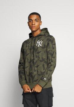New Era - MLB NEW YORK YANKEES GEOMETRIC CAMO HOODY - Jersey con capucha - olive