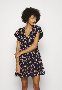 Guess - AYAR DRESS - Freizeitkleid - black/multi coloured