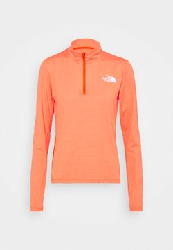 The North Face - RISEWAY ZIP - Camiseta de manga larga - flame heather