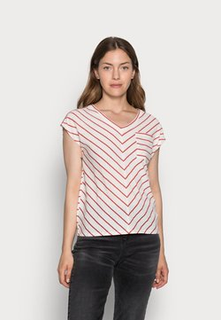 comma casual identity - KURZARM - T-Shirt print - white doub