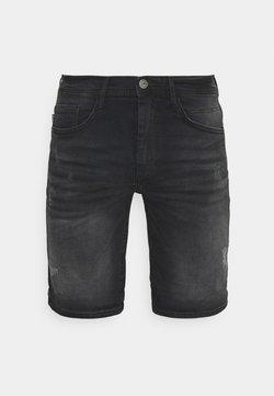 Blend - SCRATCHES - Jeans Shorts - denim black