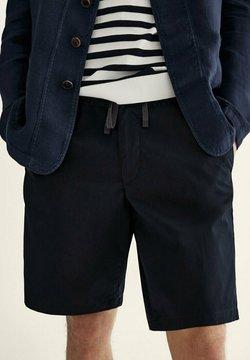Massimo Dutti - Shorts - blue black denim